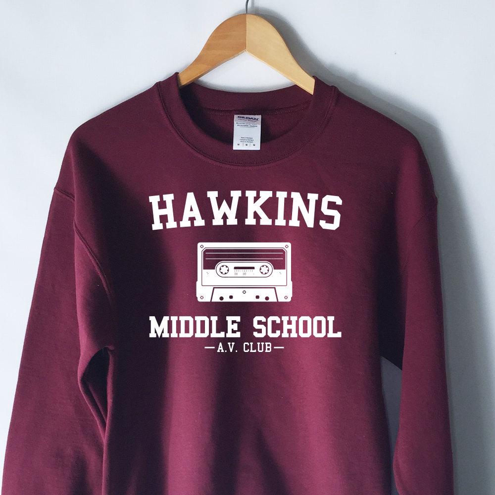 Hawkins Middle School A.V Club Sweater