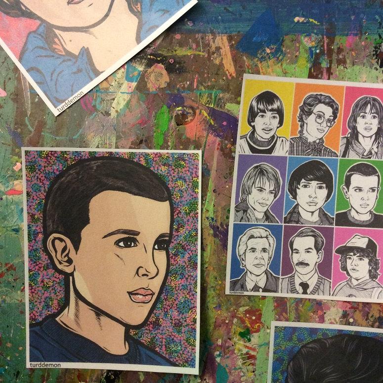 Handmade Stranger Things sticker set of Eleven