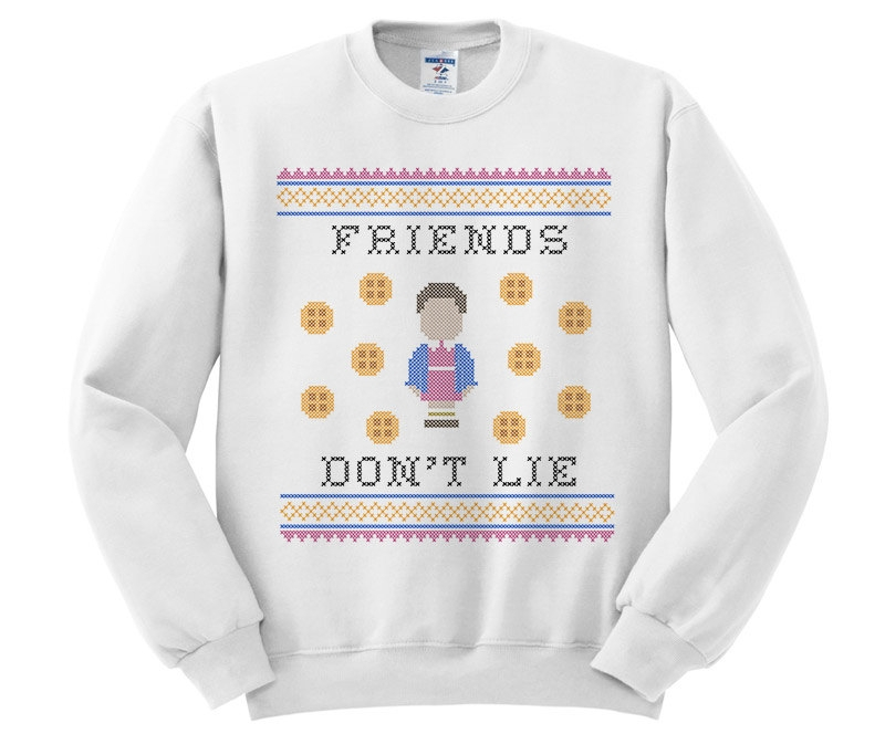 Friends don't lie Knitted style sweater