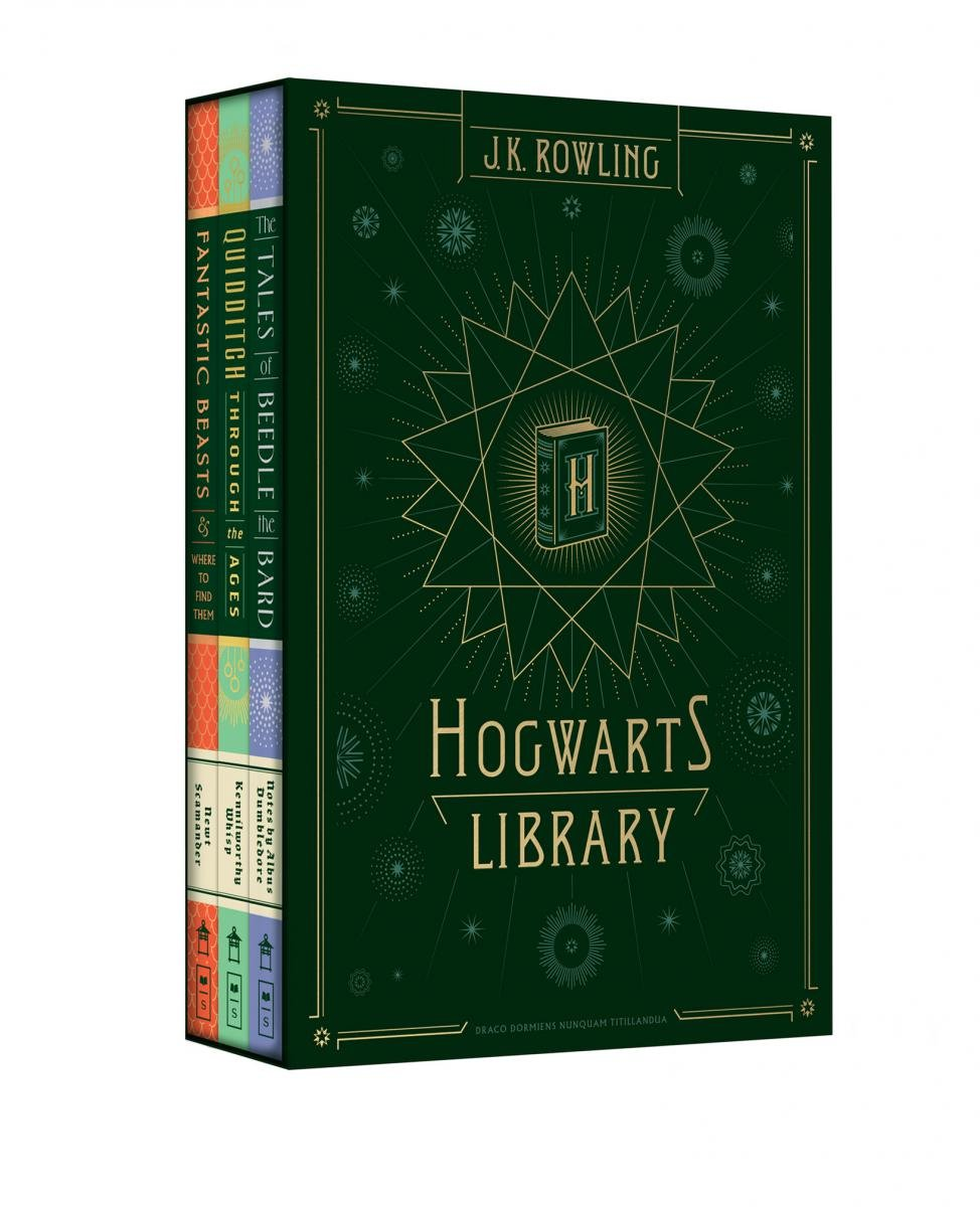 Hogwarts Library collection in a case