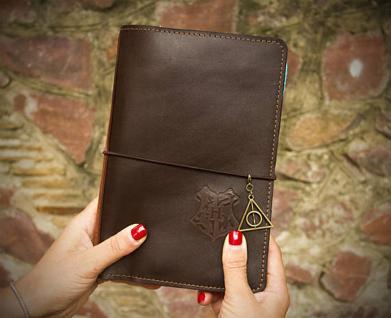 Harry Potter Leather Planner front