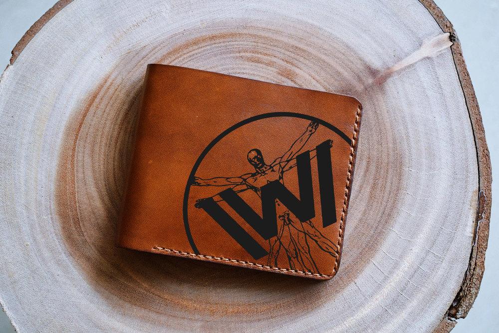 Westworld Wallet on wood
