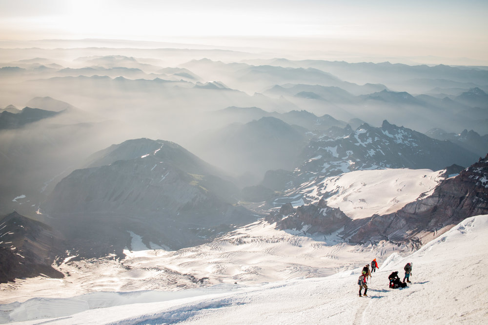mountaineering blog Luke Webster photography Mt Rainier Cascades climbing