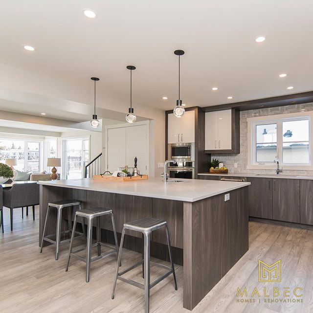 The kitchen ties together the home. It brings the family together for meals and serves as a gathering place for guests. If your kitchen is anything short of stunning we can help. Call 403-999-1900 for a renovation consultation today. #newkitchen #creatingstunningspaces #malbechomes #customrenovations