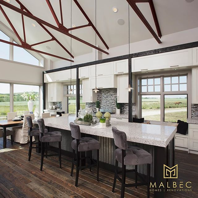 It's hard to believe this used to be the inside of a barn! There's no limit to what can be done with a little creativity and a lot of hard work. If you're looking for inspiration for your next project visit malbechomes.com or call us at 403-999-1900 for a free consultation. #malbechomes #creatingstunningspaces #yycliving #luxurycalgary #customhomes #customrenovations