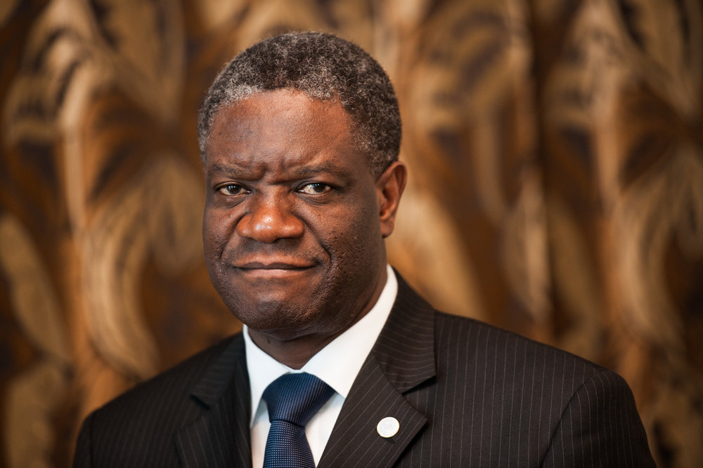 Portrait of Dr. Mukwege for Right Livelihood Awards by Wolfgang Schmidt