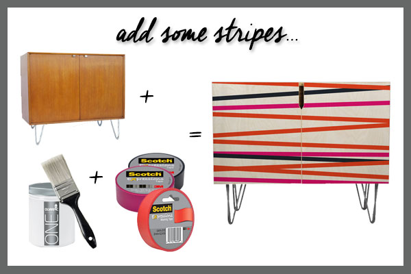 Five-Ways-to-DIY-it-Statement-Credenzas-Tape-Stripes
