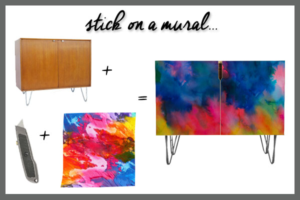 Five-Ways-to-DIY-it-Statement-Credenzas-Watercolor-Mural