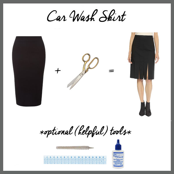 Five-Fall-Fashion-Hacks-Using-a-Pair-of-Scissors-Car-Wash-Skirt