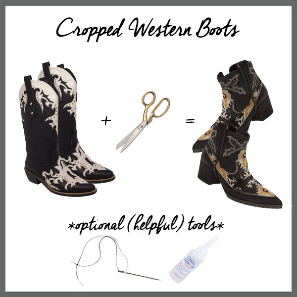 Five-Fall-Fashion-Hacks-Using-a-Pair-of-Scissors-Cropped-Western-Boots