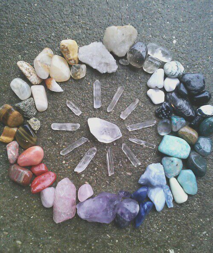Friday-Vibes-Earth-Day-Gems-Rainbow-Crystal-Grid