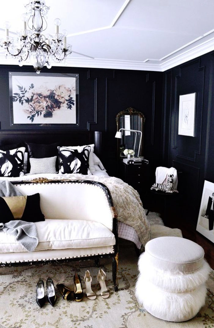 Friday-Vibes-Paint-It-Black-Bedroom