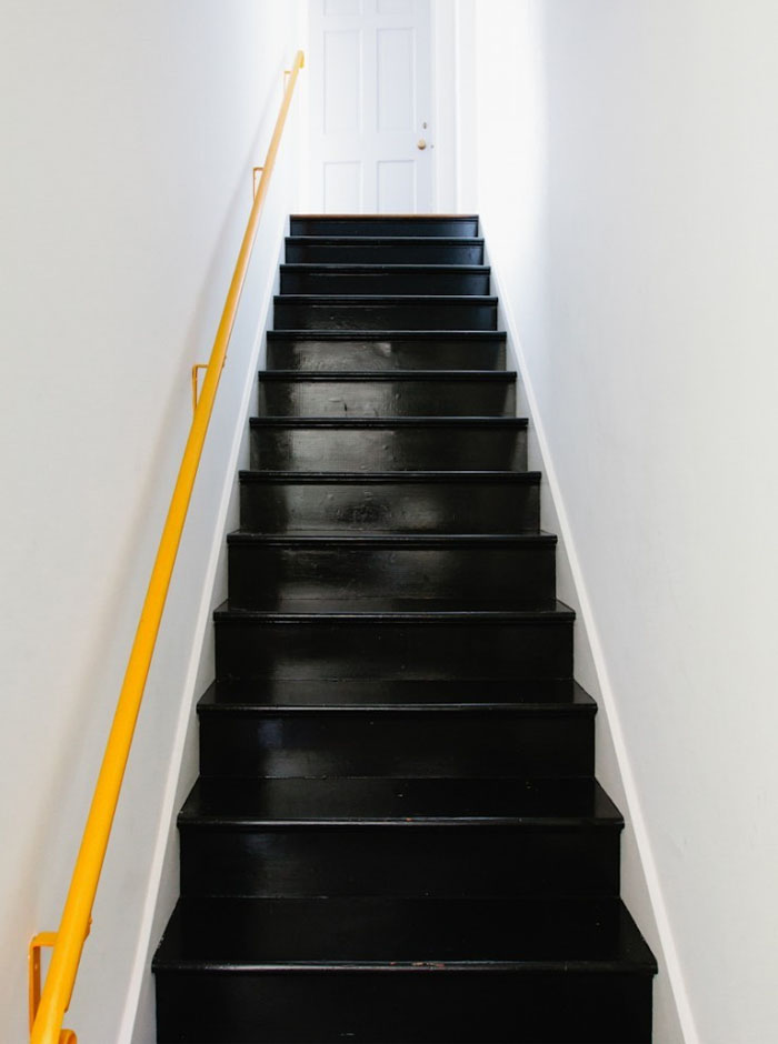 Friday-Vibes-Paint-It-Black-Stairs