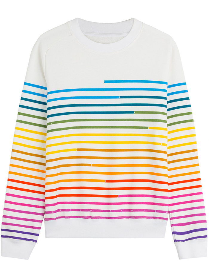 Friday-Vibes-Rainbow-Mary-Katrantzou-Pullover