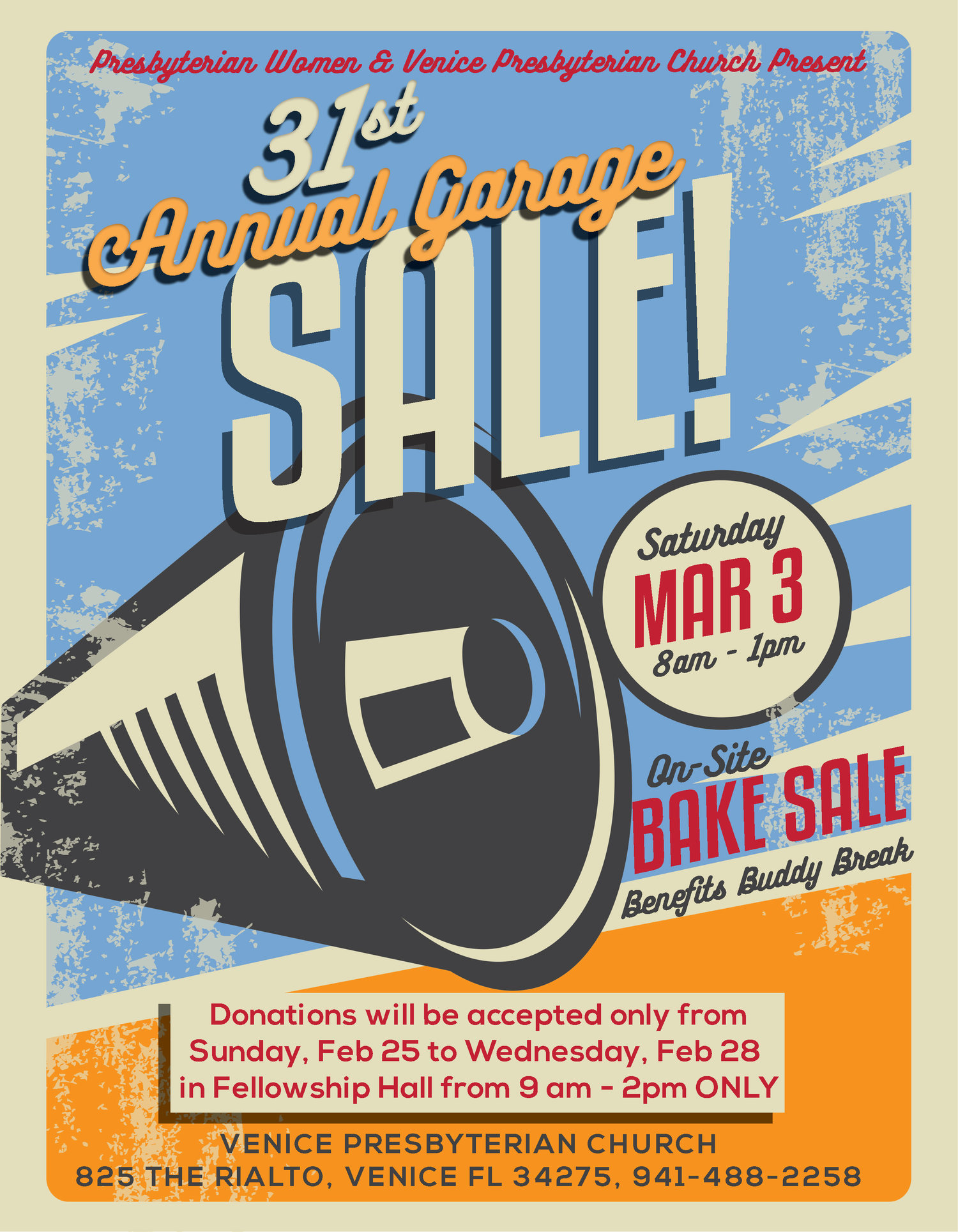 PW Garage Sale — Venice Presbyterian Church