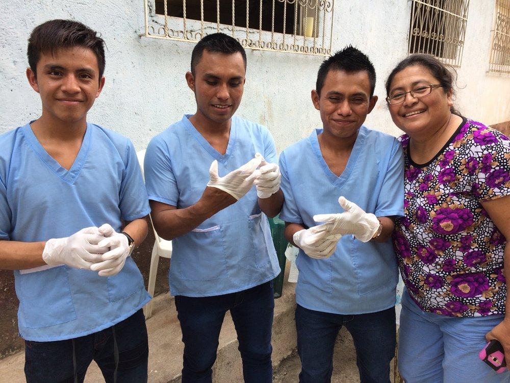 The Mayan trainee nurses begin their work.jpg
