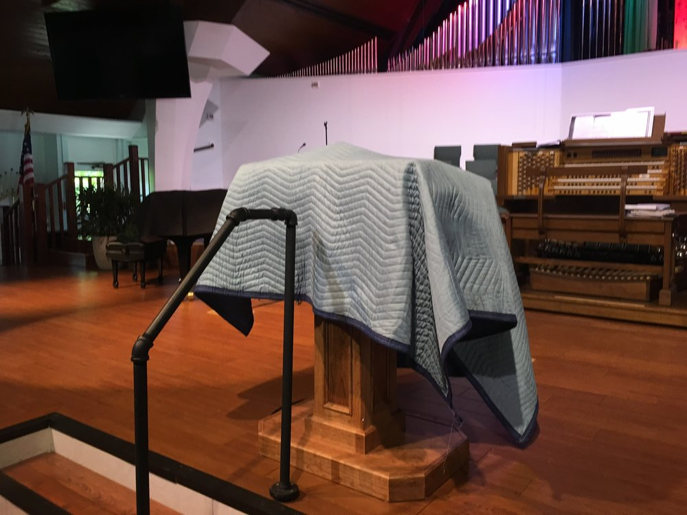 Unveiling of our new pulpit