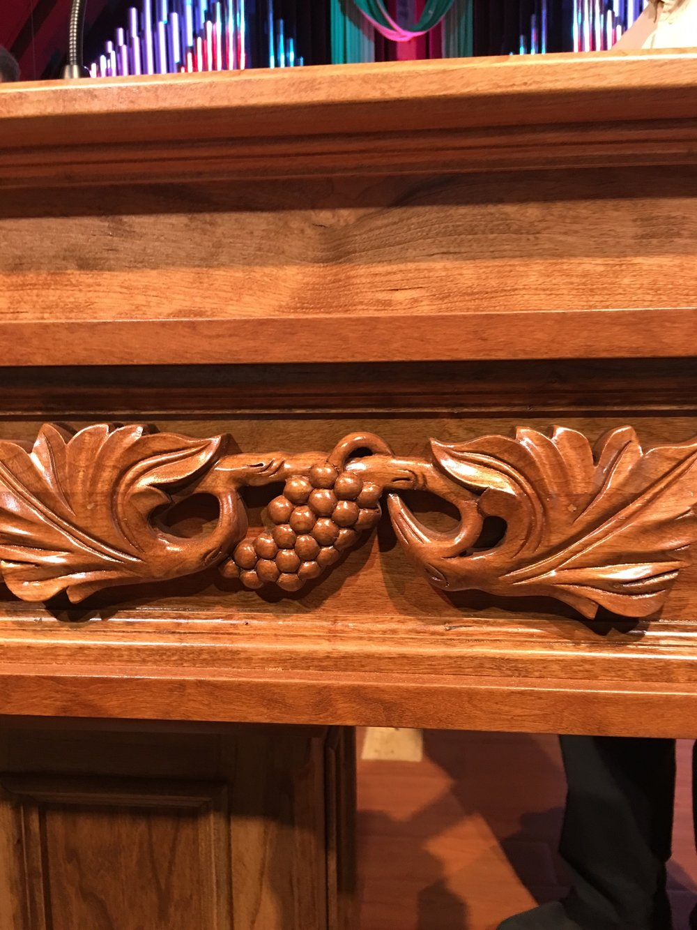 Lovely detail on the side of our new pulpit