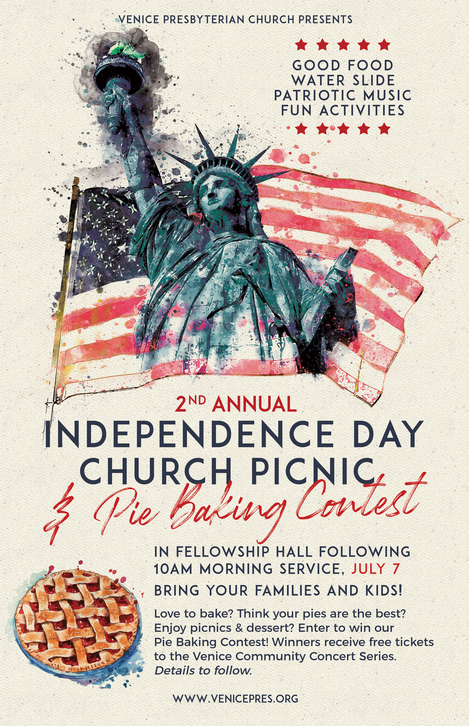 Independence Day Church Picnic & Pie Baking Contest — Venice