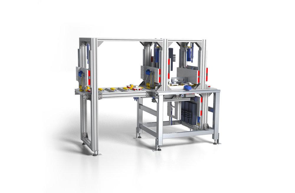 Wirbelstromprüfstand zur Überprüfung von Metallprofilen - Konstruktion nach Vorgaben des Auftraggebers