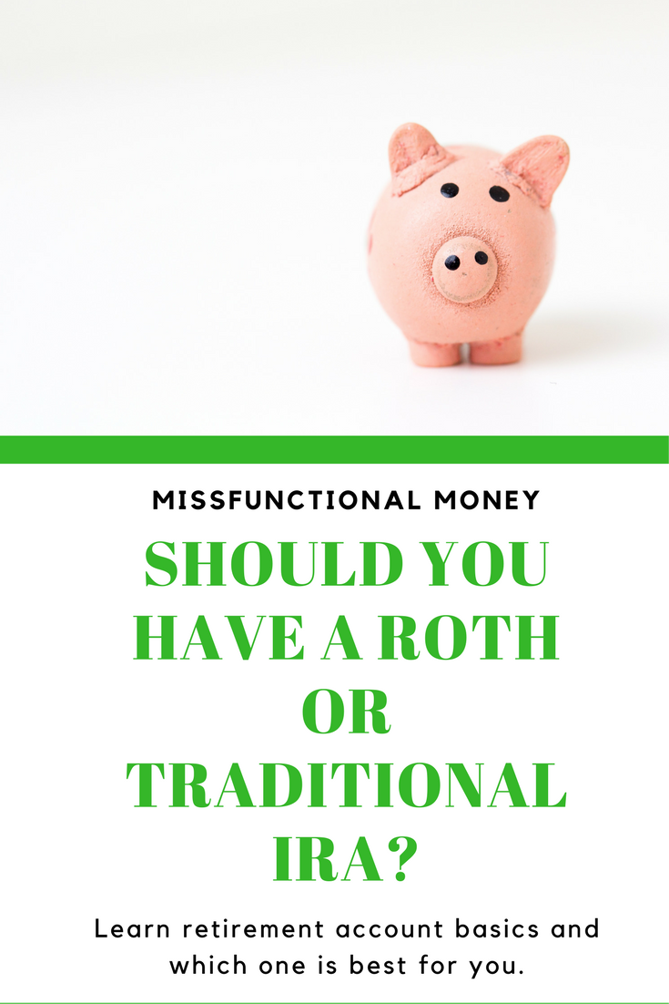 Roth IRA vs. Traditional IRA, which one is the right retirement account for you? Learn millennial money tips, money hacks, and investment ideas.