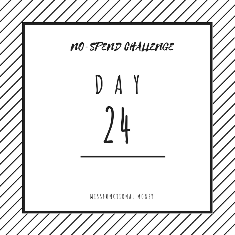 NoSpend Challenge Day 24 - Saving money is hard, especially in the summer. But if I can save more money by doing the no-spend challenge, you can too.