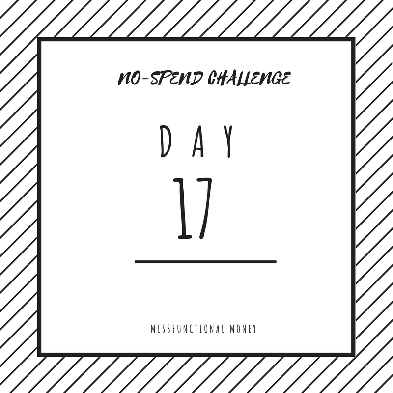 No-spend challenge day 17 was not great. How can you save more money than me? Try this.