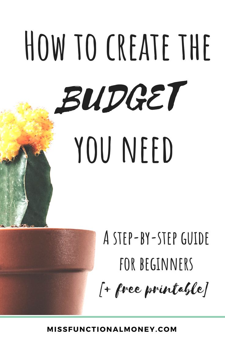 how to create an effective realistic budget based on your