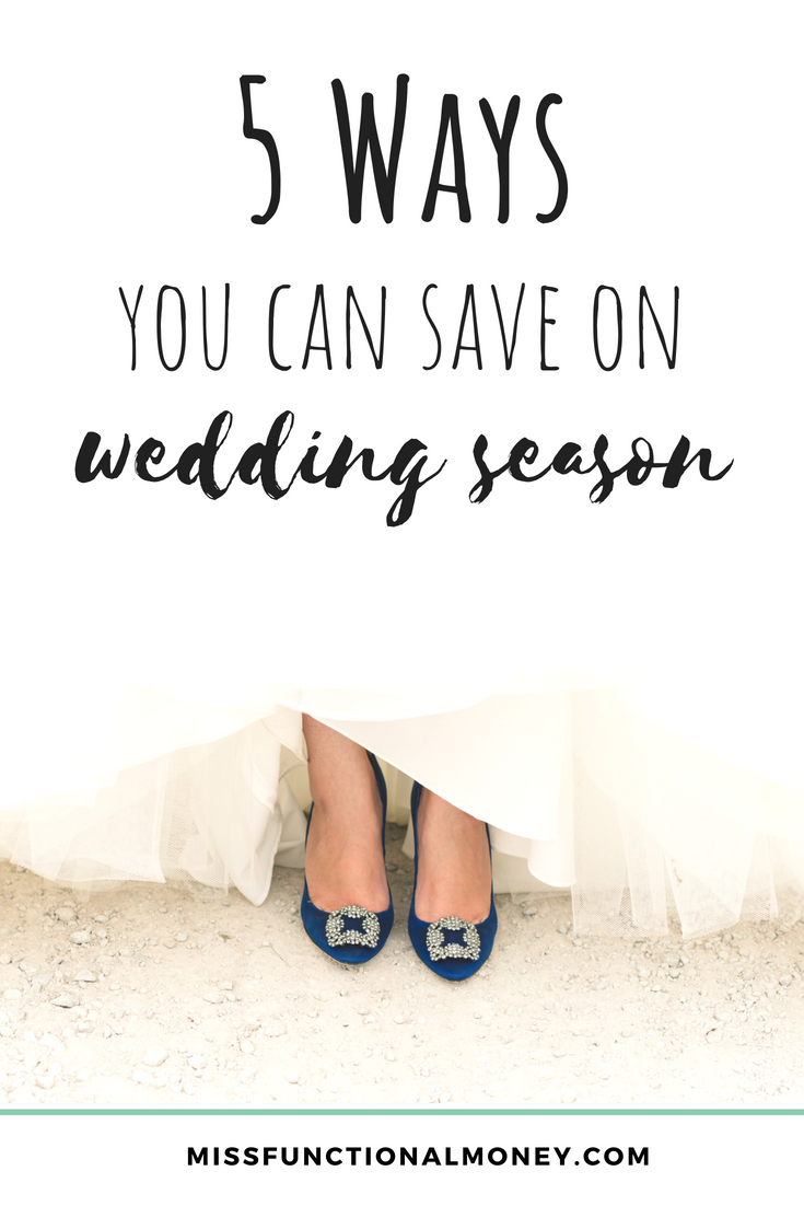 Saving money is hard, but it can be done during wedding season. On average, a friend's wedding costs us $888 from engagement toast to sparkler exit, according to a 2016 study from the Knot. That's an average number. Bridesmaids often spend well over $1,000. And to be quite frank, I think that estimate is on the low side. Here are some ways you can save!