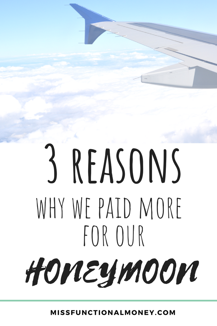 I paid twice as much as necessary for our honeymoon flights. And I am GLAD we did. Sometimes, it's worth it to pay more for convenience. Read why!   MissFunctional Money