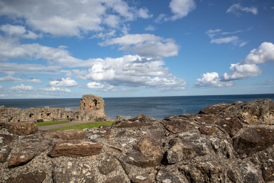 St. Andrews Castle ruins in St. Andrews, Scotland. | MissFunctional Money