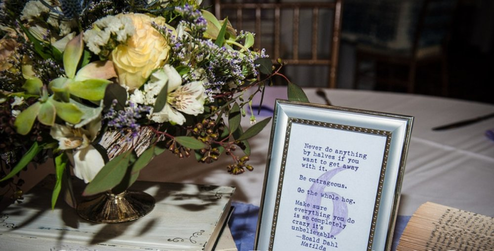 matilda quote for wedding seating chart