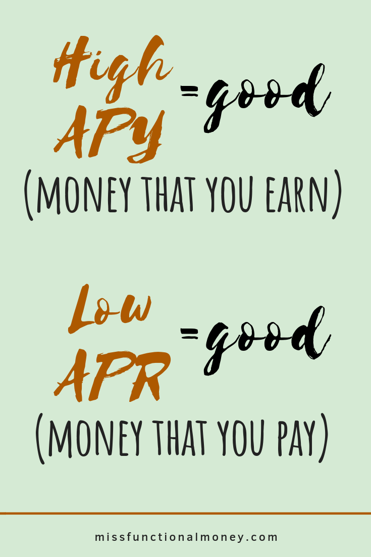 What is high APY? What is APR?   #MissFunctionalMoney #savemoney