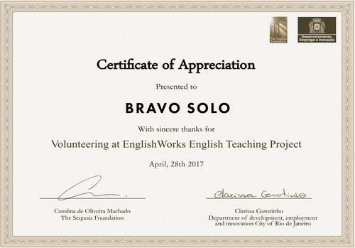Charity bravo solo englishworkscertificateg yadclub Image collections
