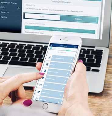 Carepoynt on desktop and mobile