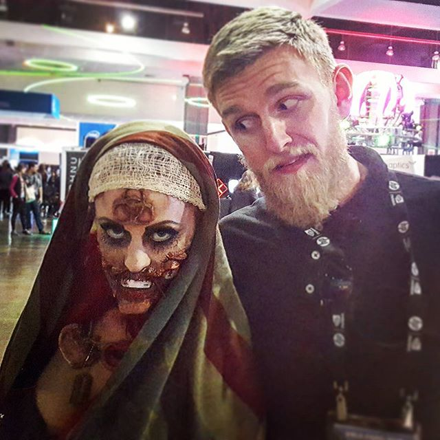 #TBT to where we meet all sort of interesting people: VR conventions! Industry professionals, hard core fans, and Zombies! #vrdc #vrla • • • • • • • #virtualreality #VR #experience #travel #Explore #adventure #production #360degrees #Hollywood #LosAngeles #California #Beautiful #IGDaily #love #Instagood #Home #tech #Startup #Technology #Ar #htcvive #Immersive #explore #TechStartup #go #zombies #hot