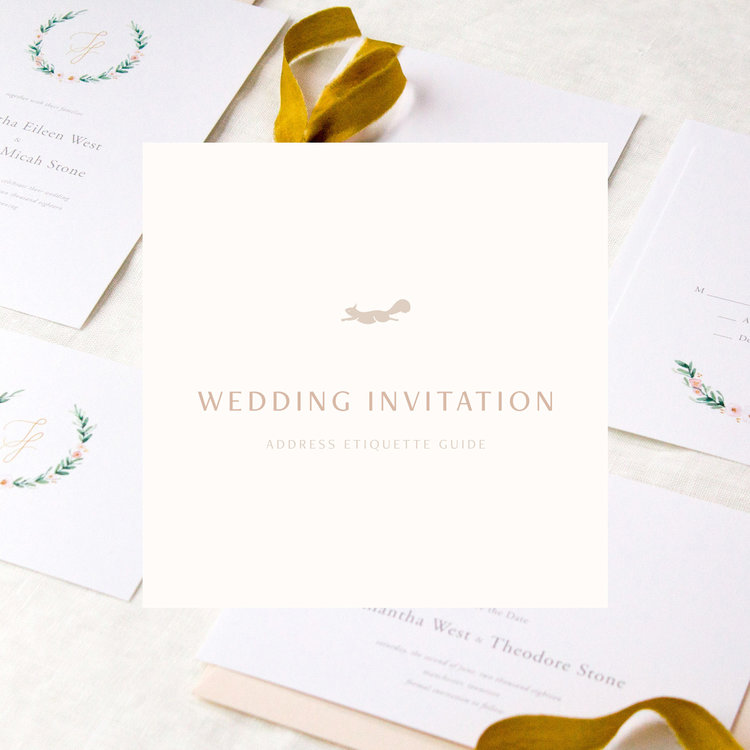 Coeo Print Company | How to Address Your Wedding Invitations