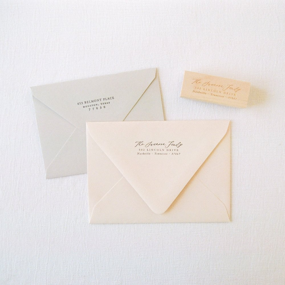 shown are pale grey and light pink with address stamp add-on