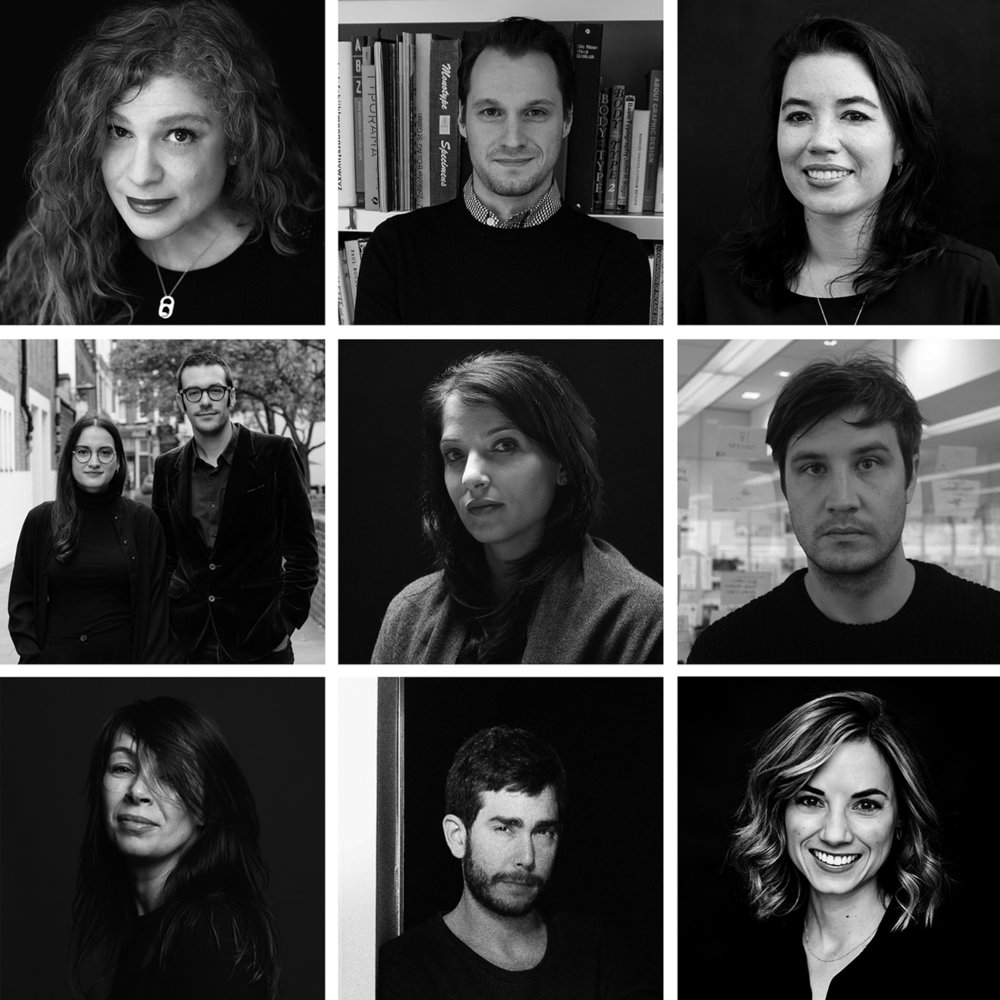 MODMAG ny speakers: (Top Row, l-r):  Emily oberman , no man's land;  alexander tochilovsky , the lubalin center;  Michele outland , gather journal and bon APPETIT. (middle row, l-r);  isabel seiffert and justinien tribillon , migrant journal;  gail bichler , the new york times magazine;  richard turley , civilization. (bottom row, l-r):  kirsten algera , macguffin;  omar sosa , apartamento;  perrin drumm , aiga eye on design.