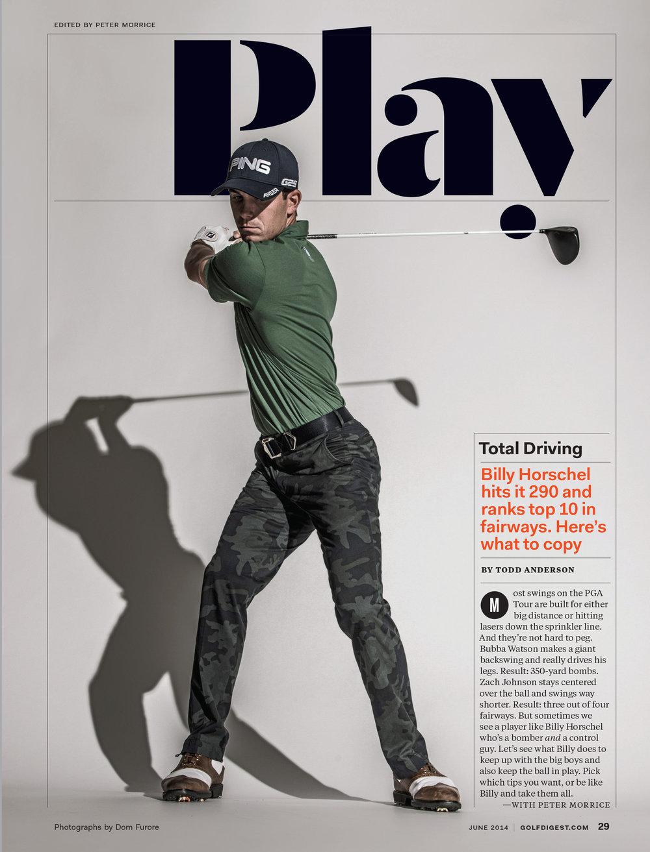Design Director, Golf Digest: Ken DeLago Design Director, Pentagram: Luke Hayman