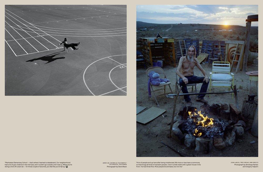 photographs by David Black and Ahndraya Parlato & Gregory Halpern
