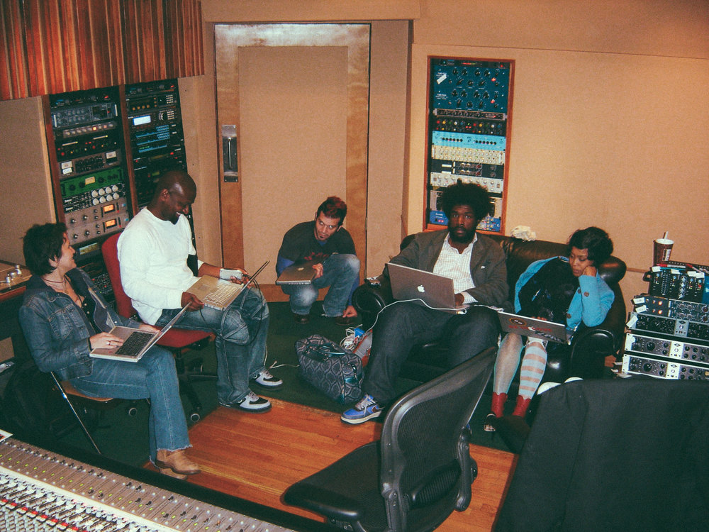 In session with Wendy Melvoin, James Poyser, Doyle Bramhall II, Questlove, and Erykah Badu at Pacifique Studio, Los Angeles