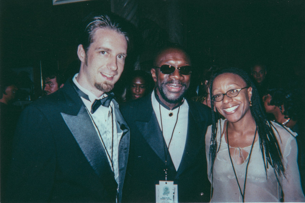 At The Grammy's with Isaac Hayes
