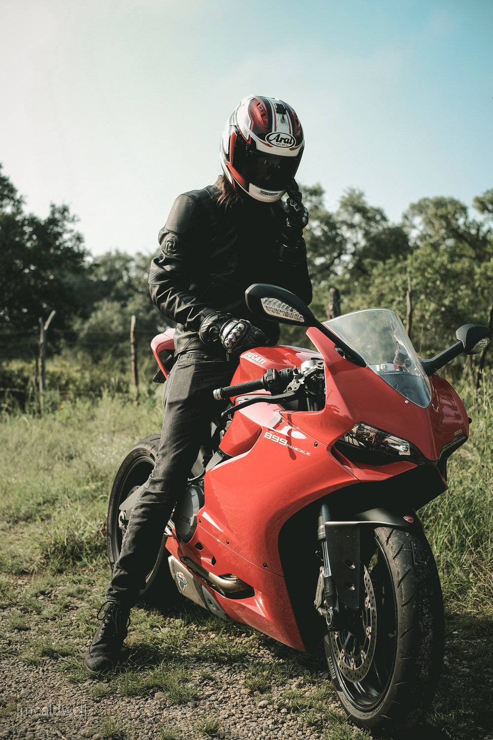 Out for a spin in Wimberley, TX on the Ducati Panigale 899