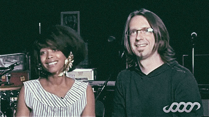 "Being interviewed with Erykah Badu by Alan Parsons for his series ""The Science of Sound"""