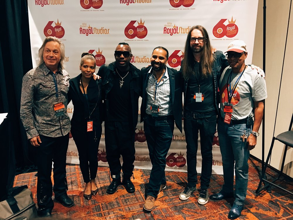 Jim Lauderdale, Oona Mitchell, Steve Jordan, Boo Mitchell, Chris Bell, and Charles Hodges (Hi Rhythm Section) Nashville, TN