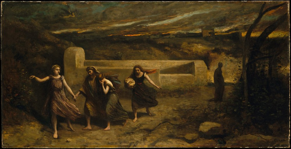 The Burning of Sodom, 1857