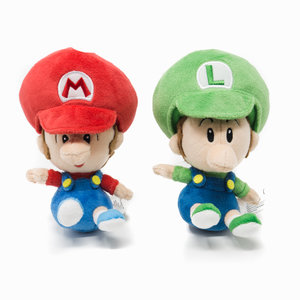 super mario baby mario and baby luigi plush