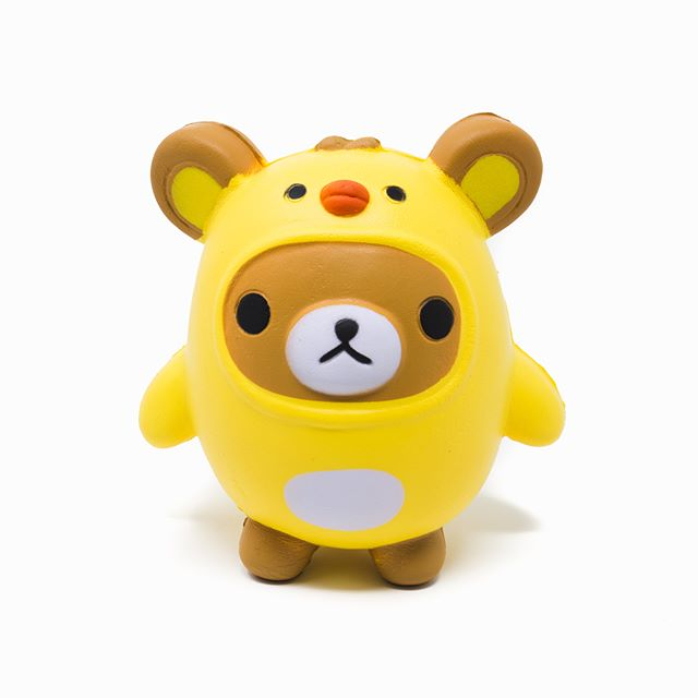 Squishy bear cosplay chick. Swipe left ⬅️⬅️⬅️ 🐥 🐻 . . . #squishy #bear #chick #cosplay #cute #toycup