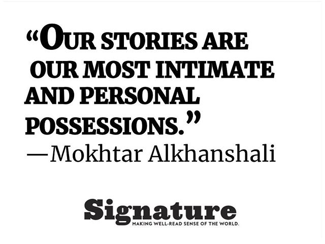 @signaturereads has a lovely interview with @mokhtar_alkhanshali in which he shares this wisdom. #themonkofmokha #daveeggers #mokhtaralkhanshali #truestory #ourstories #nonfiction #interview #books #author